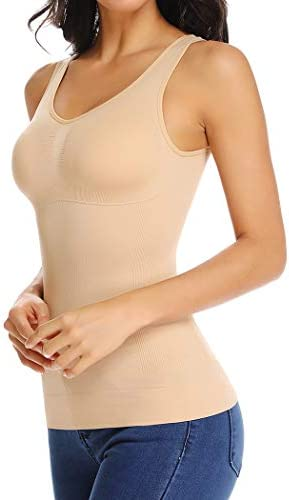 Women s Cami Shaper with Built in Bra Tummy Control Camisole Tank Top Underskirts Shapewear product image