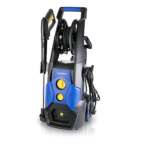 GOODYEAR Hidrolimpiadora de alta presión GY 2201PW Pro. Hidrolimpiadora profesional 2200W. Eficaz y potente. Con depósito para jabón y hueco porta objetos. Caudal max 390 l/h. 170 bares.
