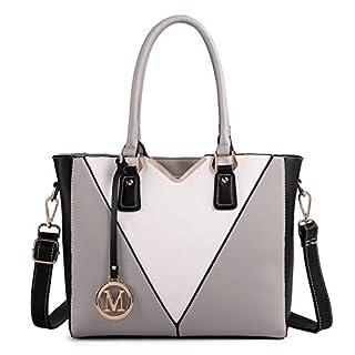 scheda miss lulu donna borse a mano borsa tote tracolla in pelle pu borsetta da donna (grigio)