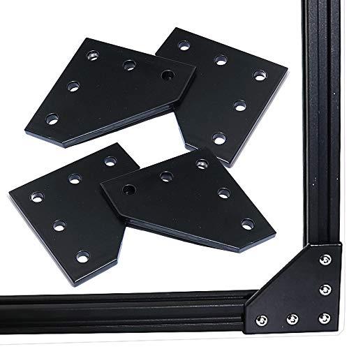 KOOTANS 4pcs/lot New 5 Hole 90 Degree Joint Board Plate Corner Angle Bracket Connection Joint Strip for Slot 6mm 2020 Aluminum Profile 3D Printer Frame