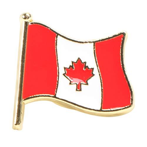 Happyyami Nationalflagge Stifte Emaille Anstecknadel Kupplung Zurück Brosche Stifte Corsage Abzeichen Kostüm Requisiten für Kleidertaschen Rucksäcke (Kanada)