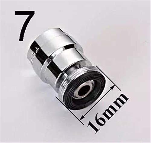 Adaptador de grifo de latón 12/14/16/18/20/20/24 mm Aireador giratorio de 360 grados rosca hembra o macho adaptador de grifo para filtro de agua (Color : 16mm male)