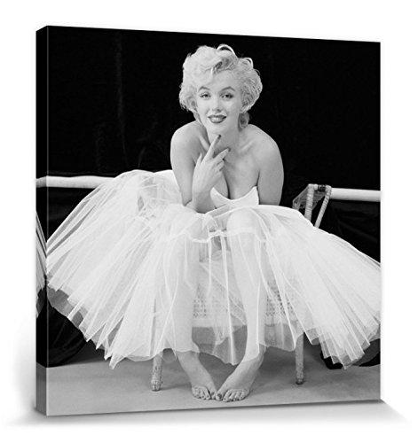 1art1 Marilyn Monroe - Ballerina Bilder Leinwand-Bild Auf Keilrahmen   XXL-Wandbild Poster Kunstdruck Als Leinwandbild 80 x 80 cm