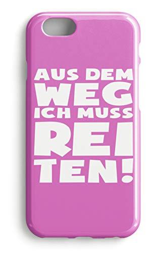 shirt-o-magic Handyhülle Pferde: Ich muss zum Reiten - Case -iPhone 8 Plus-Pink