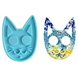 Self Defense Cat Keychain Mold, Knuckles Shape Self Defense Silicone Resin Molds, Finger Keychain Epoxy Resin Mold for Pendants Jewelry Making Crafts DIY Handmade Gift Decoration (Only The Mold)