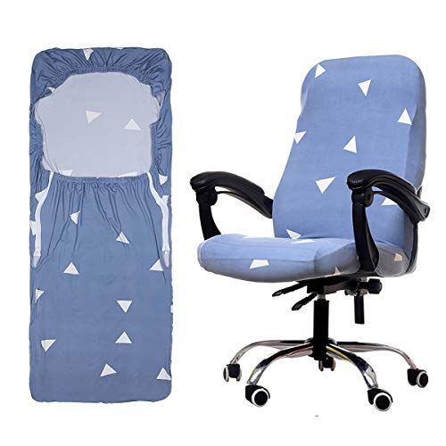 ANSUG Coprisedia per Sedia da Ufficio, Fodere per sedie da Ufficio in simplismo Stile Moderno Elasticizzato Rimovibile Copertura per Sedia Rotante Sedia Girevole da Ufficio - M