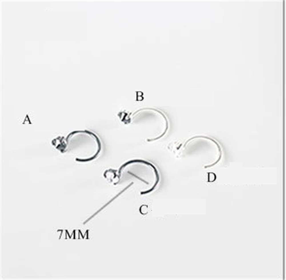 qwert Clip On Earrings for Women Men Rose Gold Clip Earrings Non Pierced Painless Cute Ear Clip Fashion,Type c,L