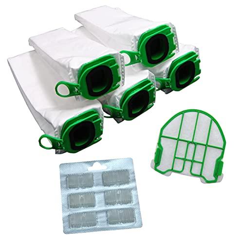 FSProdukte Spar Set 5 Microvlies Staubsaugerbeutel, 1 Motorschutzfilter und Duftblocks geeignet für Vorwerk Kobold VB 100 VB100 FP 100 FP100 Premuim Qualität
