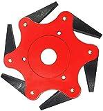 Yosemy Cabezal del cortacésped, Disco Desbrozadora de 6 Dientes Cuchilla, Corte de 360 ° Uniforme sin ángulo Muerto