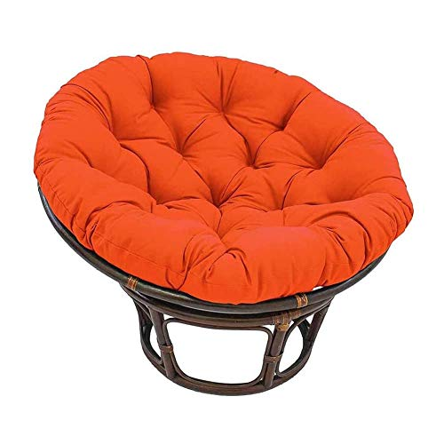 Thicked Papasan Chair Cushion, Outdoor Egg Seat Cushions Comfortable Hanging Chair Cushion Hammocks Swing Pad for Indoor Outdoor (4747in, Orange)