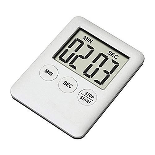 XGQ 2 PCS Pantalla Digital LCD súper Delgada Temporizador de Cocina Cocción Cuenta atrás Cuenta atrás Alarma Imán Reloj (Blanco) (Color : White)
