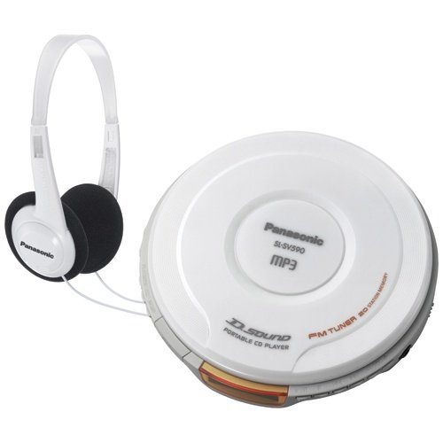 Panasonic SL-SV590W Personal CD/MP3 Player with D.sound Technology, White