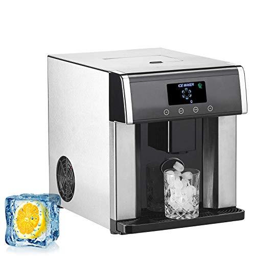 FMXYMC Eiswürfelspender, Eiswürfelmaschine & Wasserspender V2 mit XL-Display, Edelstahlgehäuse