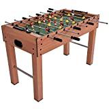 GetBest Big Size Foosball Table Soccer Game with 8 Rods, 121cm