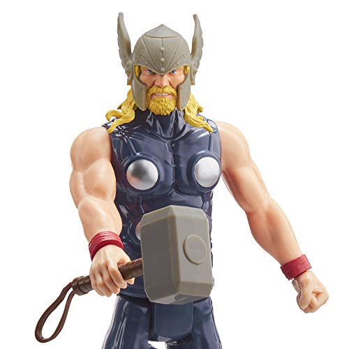 "Avengers Marvel Titan Hero Series Blast Gear Thor Action Figure, 12"" Toy, Inspired by The Marvel Universe, for Kids Ages…"