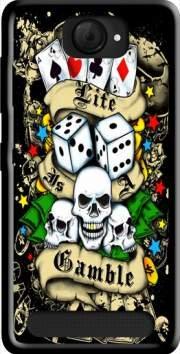 MOBILINNOV Archos 40d Titanium Love Gamble Poker Silikon Hülle Handyhülle Schutzhülle - Zubehor Etui Smartphone Archos 40d Titanium Accessoires