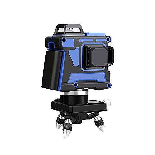 12 líneas Niveles láser 3D azul Autonivelante 360 Horizontal y vertical Cruz...