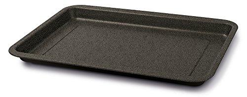 Guardini Blackstone, Plaque à four rectangulaire 26 x 37 cm, acier avec revêtement anti-adhérent, couleur « black-stone »