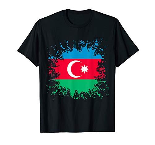 Aserbaidschan Flagge Aserbaidschanische Flagge T-Shirt T-Shirt