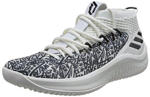 adidas Dame 4, Zapatos de Baloncesto Hombre, Blanco (Clowhi/Crywht/Cblack Clowhi/Crywht/Cblack), 48 2/3 EU