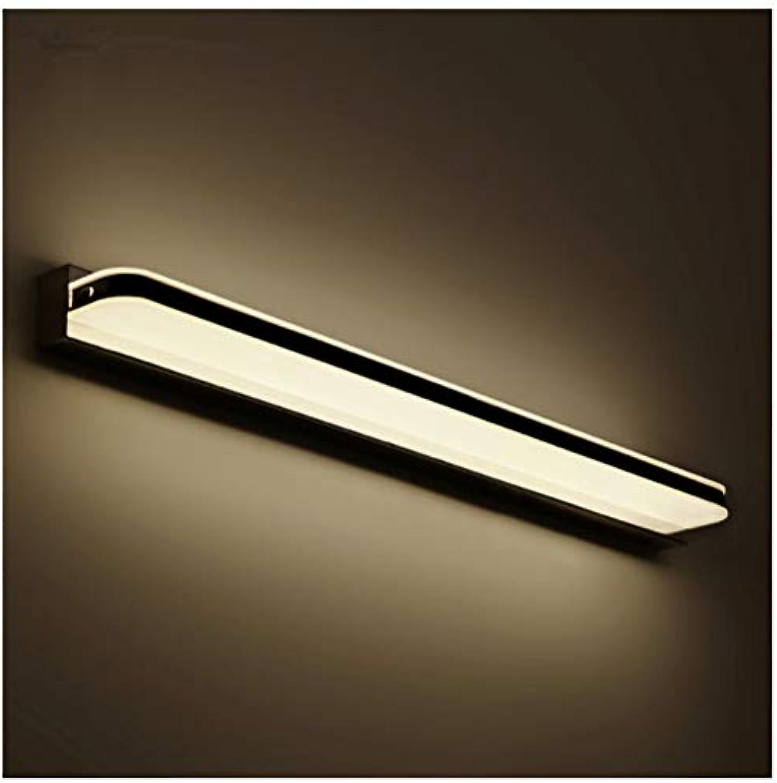 YU-H Lighting Führte Spiegel Scheinwerfer, wasserdicht und feuchtigkeitsfest Bad Badezimmerspiegel Licht modernen minimalistischen Kosmetikspiegel Licht (Farbe   Warmes Licht-40cm)