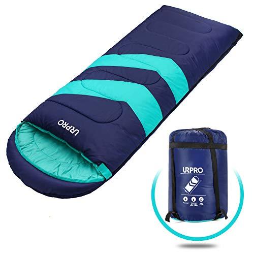 URPRO 3 Jahreszeiten Schlafsack Bedeckt Winter, Herbst, Frühling, Hergestellt aus 150 G/M㎡X 2.100% Hohlfaser und 210 Polyester (Überlegenes Material), Hautfreundlich Wasserabweisend