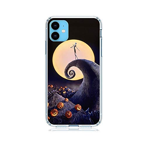 X-Art Transparent Fundas Slim Liquid Flexible Case Back Cover for Apple iPhone 11-Christmas-Nightmare Jack-Skellington 6