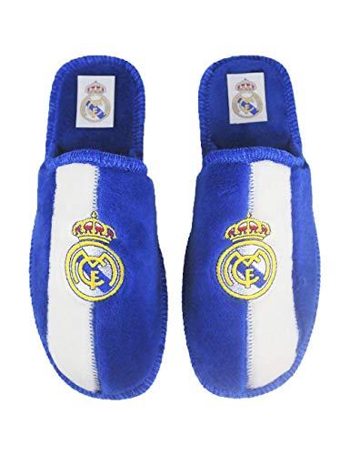 Zapatillas de Estar por casa con Licencia Oficial de Equipos de Futbol Real Madrid CF - Color - Azul, Talla - 42