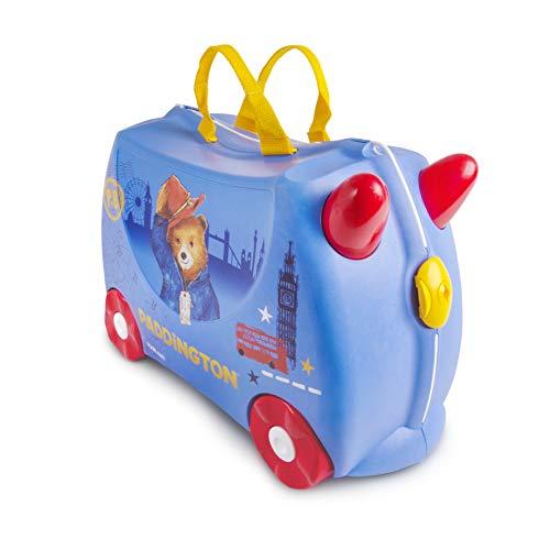 Trunki Maleta correpasillos y equipaje de mano infantil: Oso Paddington (Azul)