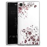 DeinDesign Slim Hülle extra dünn kompatibel mit Sony Xperia Z5 Compact Silikon Handyhülle transparent Hülle Blume Ranken Ornamente
