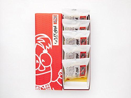 茜丸本舗 五色どらやき 詰め合わせ (5個入り) 和菓子 和スイーツ ギフト 業務用 家庭用 甘味(創業80年 老舗 あんこメーカー)