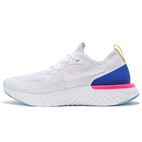 Nike WMNS Epic React Flyknit White Racer Blue Pink Blast AQ0070-101 US Women Size 5