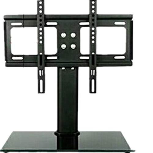 DDyna Soporte de Base de TV Plana Soporte de Monitor de Mesa de TV con Base de Doble Columna Base de TV de Pantalla Plana LCD Engrosada Soporte de Escritorio para TV - Negro - 26-32 Pulgadas