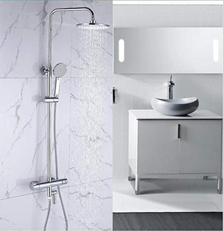 Brausegarnitur für Badezimmer zur Wandmontage Brausegarnitur für Dusche mit kupferfarbenem Warm - und Kaltwasserhahn
