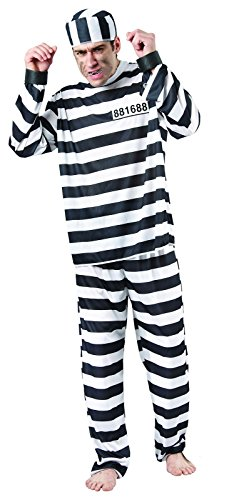 Rire Et Confetti - Fiapri003 - Déguisement pour Adulte - Costume Prisonnier - Homme - Taille M