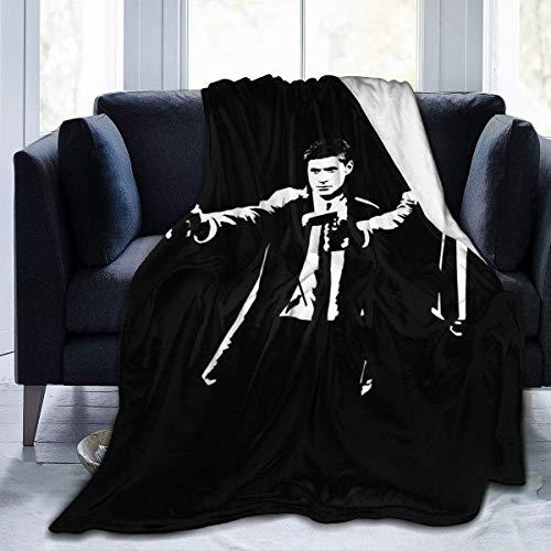 Manta de Franela Tela de Cepillo Extra Suave Súper cálida Mantas para sofás acogedora y Ligera Pulp Fiction Sam y Dean Winchester