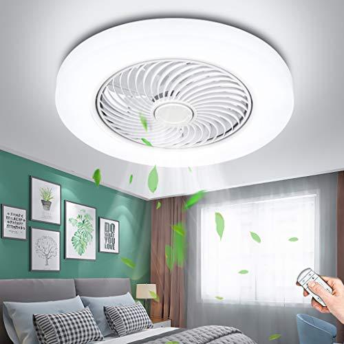 Ventilador De Techo LED 72W Con Luz De Techo Regulable Con Control Remoto Velocidad Del Viento Dormitorio Moderno Invisible Ventilador Silencioso Fan De Habitación Para Niños Lámpara De Techo
