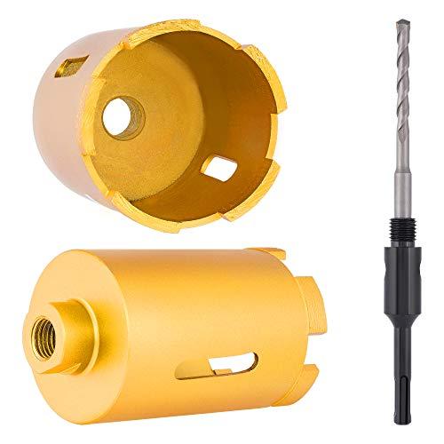 Diamant-Bohrkrone Ø 68 x 100 mm 5 Segmenten x 10mm incl. SDSplus-Schaft 115mm + Zentrierbohrer / Dosenbohrer Dosensenker