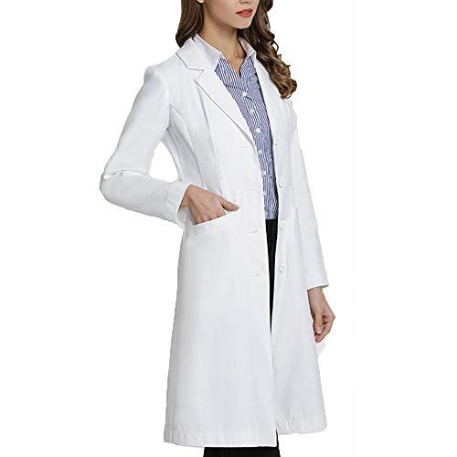 Labor Laborkleidung Studentenuniform Ärzte Jacke Uniformen Schönheitssalon Wissenschaft Lebensmittelhygiene-Industrie Arbeitskleidung Erwachsenen Kostüm Outfit,S