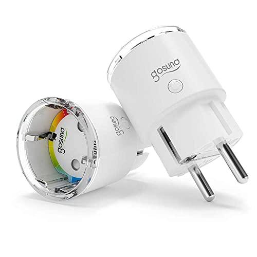 Mini Presa Smart Alexa, Presa Intelligente WiFi Smart Plug Compatibile con Alexa e Google Home, Controllo Remoto & APP, Funzione Timer, Misura il Consumo Energetico, 2 Pack,EP2-2