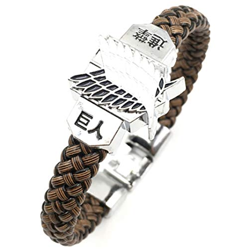 GTTYU Likable Anime Attack On Titan Wristband Bracelets Cosplay Hand Jewelry(None Picture Color)