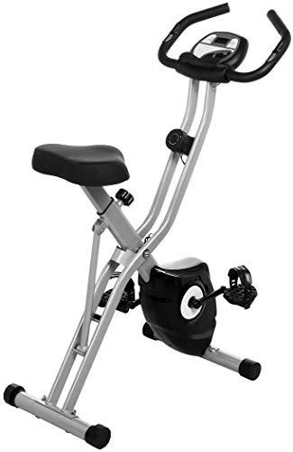 ANCHEER Cyclette da Casa con Sedile Confortevole, Cyclette Pieghevole con App/10 Livelli di Resistenza Magnetica Regolabile, Peso Max.265 LB