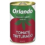 Orlando - Tomate Natural Triturado, Lata 400 g - , Pack de 6...