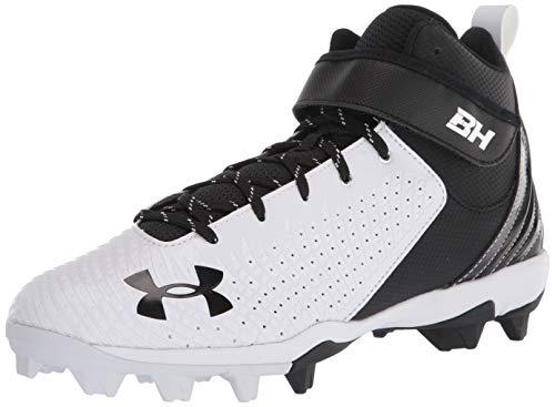 Under Armour mens Harper 5 Mid Rm Baseball Shoe, White/Black, 7.5 US