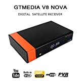 Docooler GT Media V8 Nova DVB-S2 Receptor de TV Retransmisión de Video Digital Receptor HD 1080P Receptor WiFi Integrado H.265 EPG Soporte Cccam Newcam Youtube Enchufe de la UE