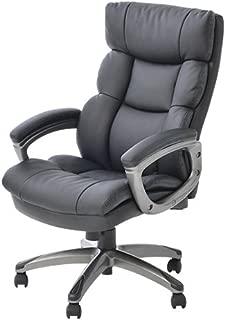 オフィスコム ソファーチェア オフィスチェア パソコンチェア コイルスプリング ひじ付き ラクシア ブラック