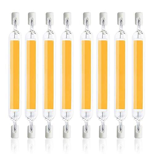 YQGOO Bombilla LED R7S de 10W 78mm Bombilla halógena Equivalente de Doble Extremo 100W J78 R7S, Efecto Lineal Doble LED Delgado para Bombilla reflectora, 100~130V, 2PCS