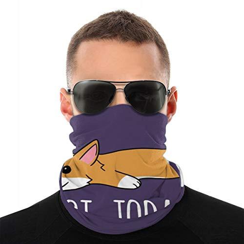 Alysai Non oggi Corgi Dog unisexe en microfibre tour de cou guêtres bandanas pour randonnées sportives