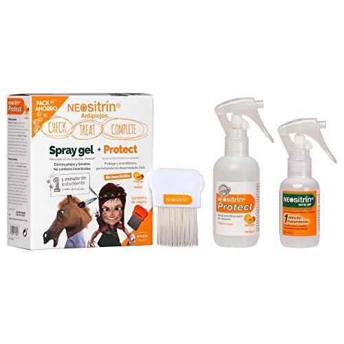 Neositrin Pack Spray Gel(60ml) + Acondicionador 100ml para eliminar piojos y liendres en 1 minuto