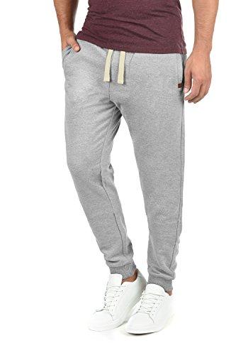Blend Tilo Herren Sweatpants Jogginghose Sporthose Mit Fleece-Innenseite Und Kordel Regular Fit, Größe:XL, Farbe:Zink Mix (70815)